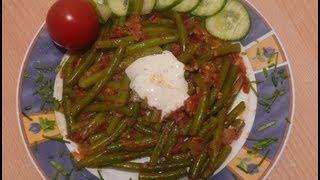 Рецепт - Стручковая фасоль с помидорами  от videokulinaria.ru
