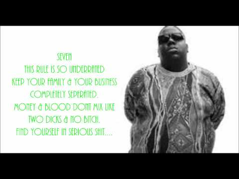 Biggie 10 Crack Commandments Lyrics