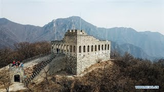How the ancient Great Wall is being restored in NW China?