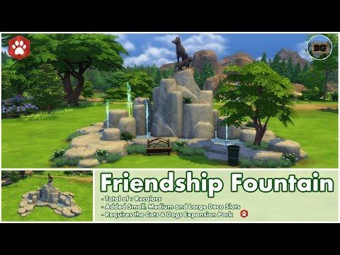 Bakies The Sims 4 Custom Content: Friendship Fountain