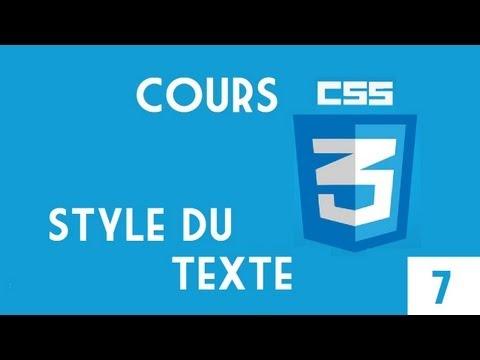 15 - HTML & CSS - Style Du Texte