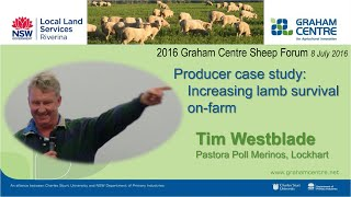 2016 Sheep Forum: 6 Tim Westblade