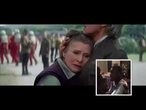 John Boyega Force Awakens Trailer Reaction with split screen