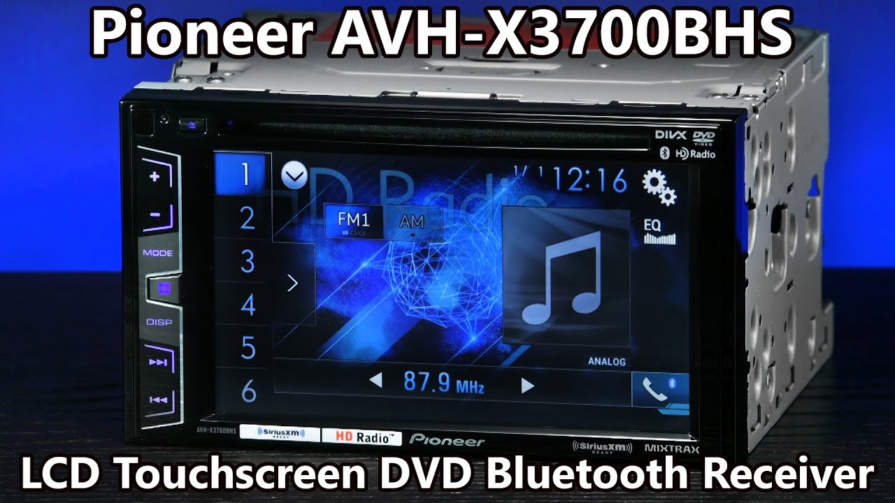 Pioneer Avh X3700bhs Double Din Bluetooth Dvd Radio 62 Mga Wiring Diagram Touchscreen