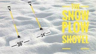 The snow plow shovel for snow removal [Devon&#39s Lawn Care]