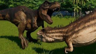 Carcharodontosaurus vs T-Rex, Indominus Rex, Indoraptor, Spinoraptor, Giganotosaurus, Spino & Allo