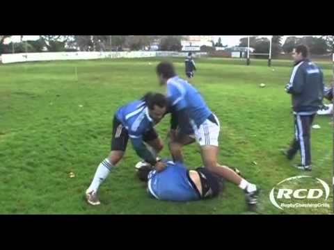 Rugby Coaching Drills - 'Duck and Clean' Rucking Technique