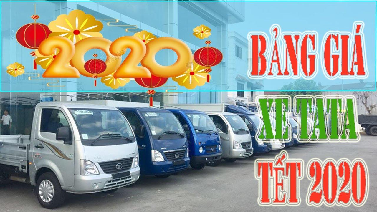 Nên mua xe tải nhẹ máy dầu hay máy xăng | Bảng giá xe tải Tata 1.2 tấn Tết 2020