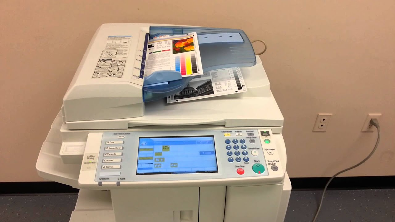 testing fax machine