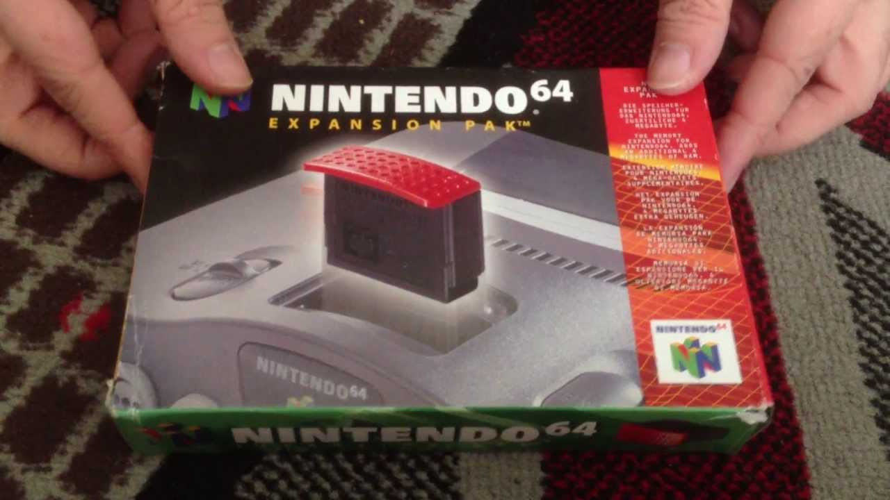 Nostalgamer Unboxes Nintendo 64 Expansion Pak Pack PAL UK Version