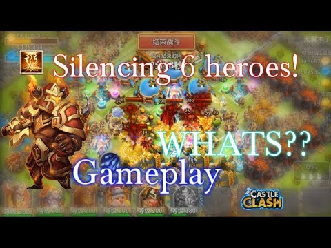 Aries Silencing 6 Heroes Gameplay OMG!! Castle Clash
