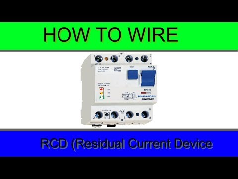 how to wire residual current device rcd youtube rh youtube com rcd wiring diagram rcd wiring diagram