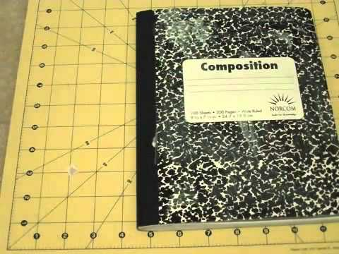 How To Decorate A Composition Notebook Youtube