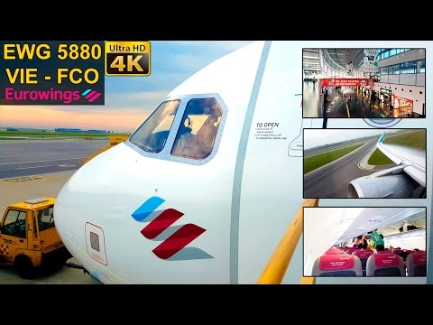FLIGHT EXPERIENCE | Vienna - Rome FCO | EUROWINGS A320 Sharklets