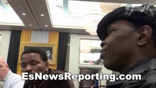Shawn porter on watching floyd mayweather & Manny Pacquiao Working Out