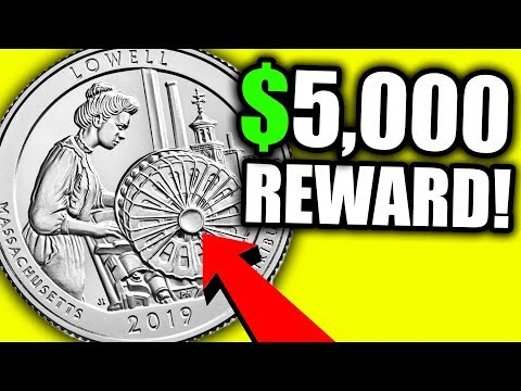 $5,000 REWARD IF YOU FIND THIS RARE COIN!! 2019 W QUARTERS WORTH MONEY
