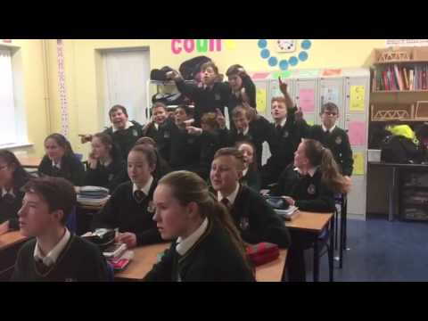 1st Years singing as Gaeilge Christmas Songs