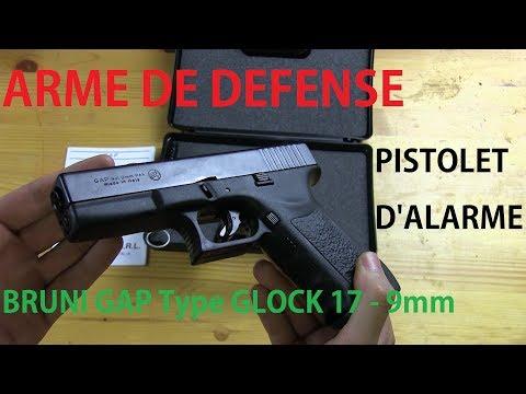 🔫 BRUNI GAP Type Glock 17 - Déballage & tests (Arme de défense non létale)