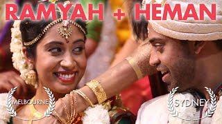 Hindu wedding video Melbourne, at Shri Shiva Vishnu Temple + Concord Centre Sydney - Ramyah + Heman