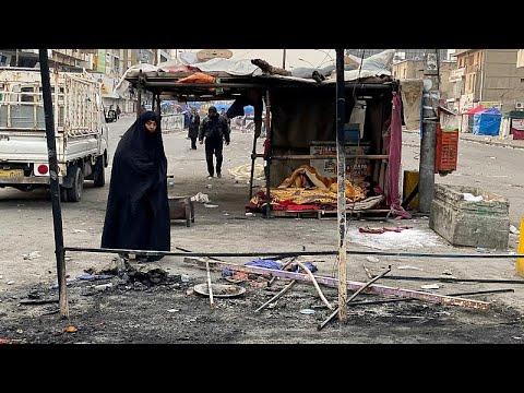 الشرطة العراقية تحرق خيام المتظاهرين وسقوط صواريخ على مقر للتحالف قرب السفارة الأميركية …  - نشر قبل 20 ساعة