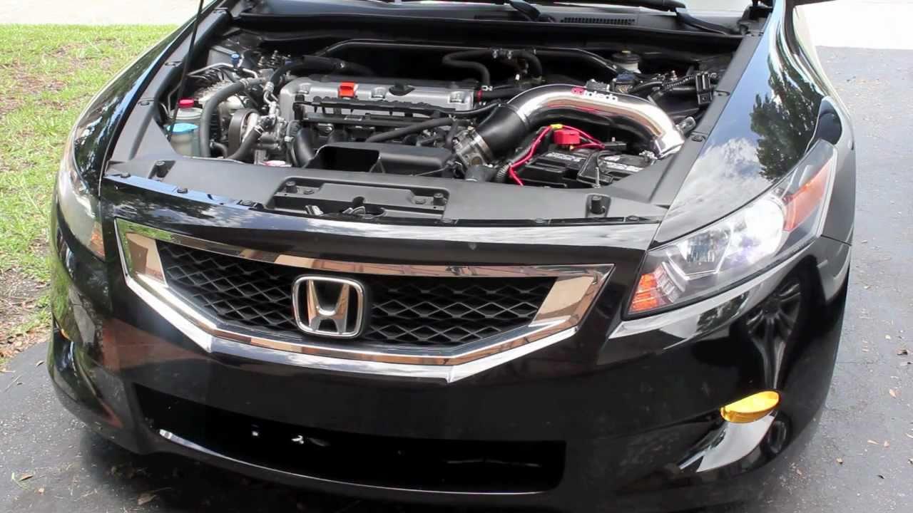 Honda Accord 2014 Coupe V6 >> Takeda SRI vs OEM Intake [2010 Accord Coupe i4 AT] - YouTube