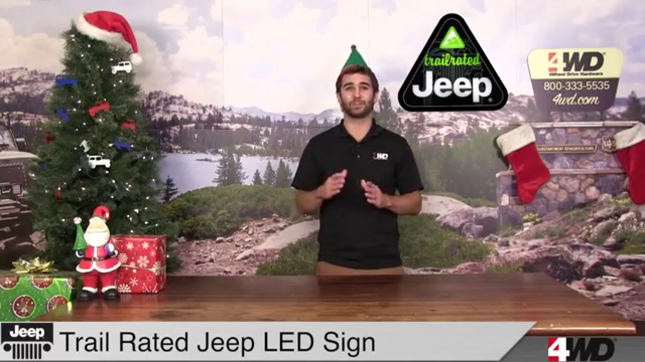 Day 3 Trail Rated Led Jeep Sign Trek Armor Universal
