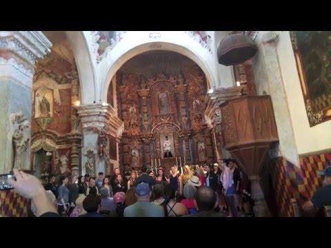 Maynooth University Chamber Choir at San Xavier Mission, Tucson Arizona