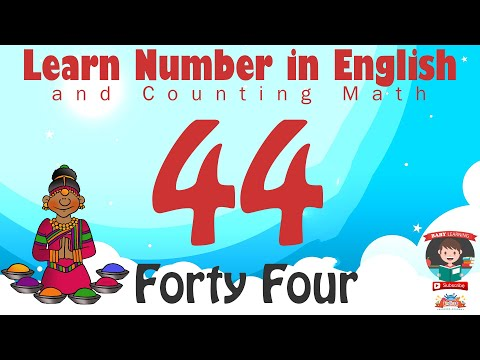 Learn Number Fourty Four 44 In English & Counting Math