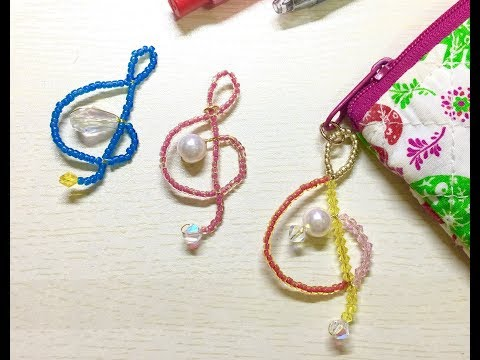 Easy DIY Bead Music Symbol Charm