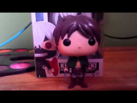 Tokyo Ghoul, Attack On Titan Funko Pop Eren Yeager And Ken Kaneki Review Part 1