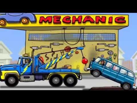 hoạt hình máy xúc, máy ủi, xe lu, ô tô, máy công trường phần 2 \