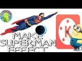 Tutorial KineMaster : Fly like Superman Effect - Man of steel flight - Android|how to make flying ef