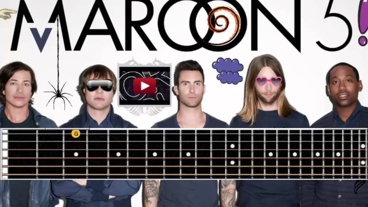 Maroon 5 - She will be loved Guitar Cover Lesson - YouTube