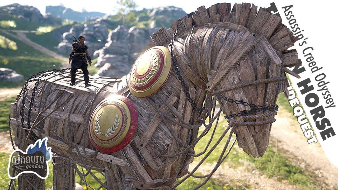 The Trojan Horse in Assassin's Creed Odyssey - Iliad Trojan War Easter Egg