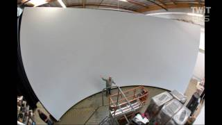 Large Projector Screens Used in TV Studios