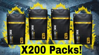 200 Alpha Packs Opening with Black Ice! (Only the Good Pulls) - Rainbow Six Siege