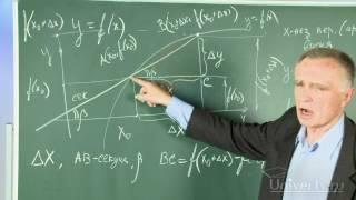 01 Определение производной, её физический и геометрический смысл  Алгоритм нахождения производной