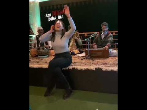 Download Sara Ali Khan singing Dama Dam Mast Qalandar new Video Qawali Night Kashmir Vacations #shorts