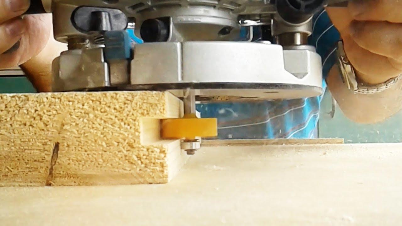 Фрезерование паза для угловой вязки досок
