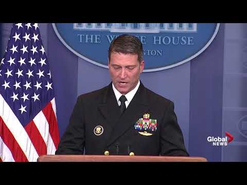 White House physician says Trump's health is 'excellent' Mp3