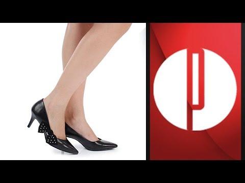 eee3372cf1 Sapato Scarpin Bico Fino Lara Laço 6030525712 - YouTube