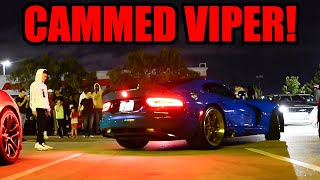 Crashing A MOPAR MEET in a CAMMED Dodge VIPER! (It Sounds So Good!)