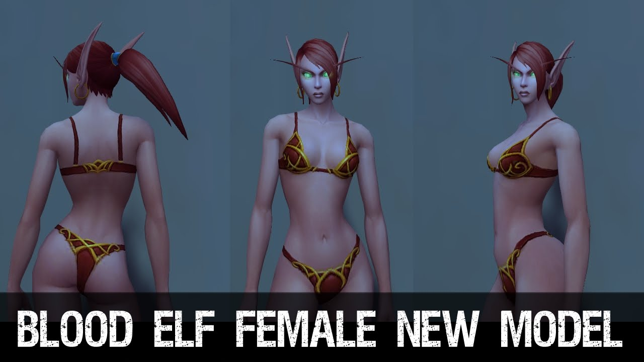 Blood Elf Female Character New Model Preview Warlords Of Draenor