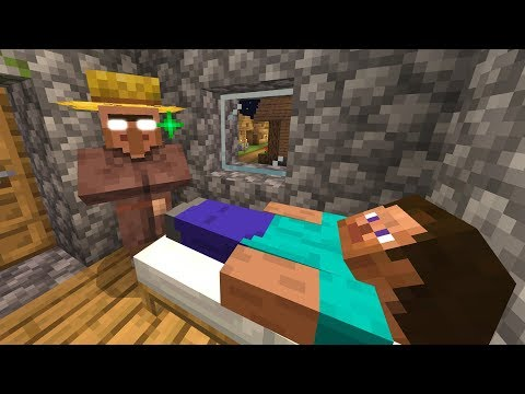 Never steal a Minecraft villager's bed.. (Scary Minecraft Video)