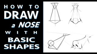 How to Draw A Nose Using Basic Shapes - Tutorial