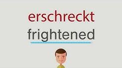 Wie heißt erschreckt auf englisch