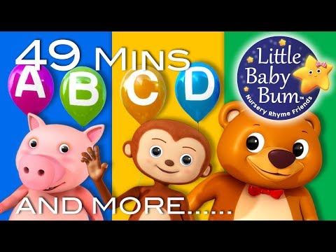 Alphabet Party | Plus Lots More Nursery Rhymes | 49 Minutes Compilation from LittleBabyBum!