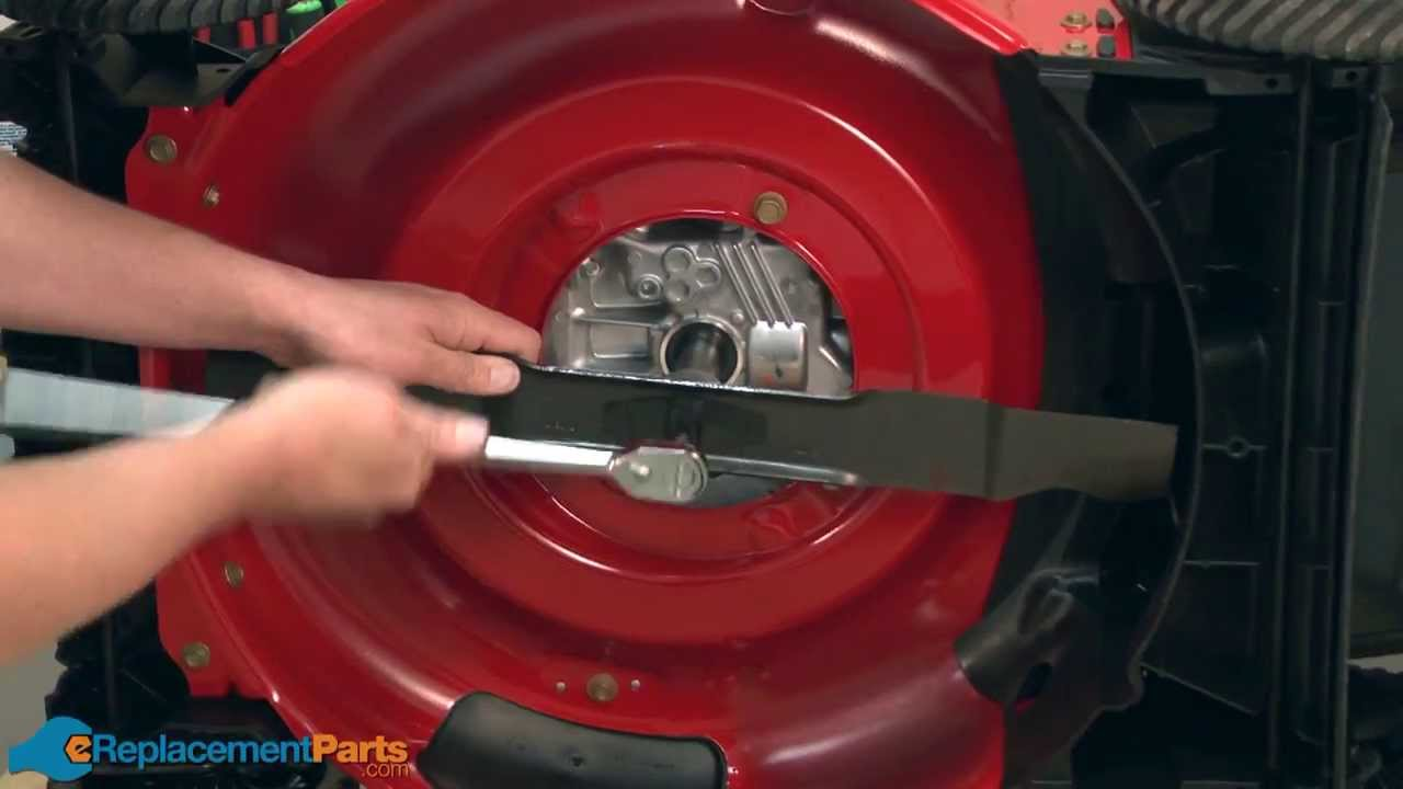 How To Replace The Mulching Blade On A Troy Bilt Tb130