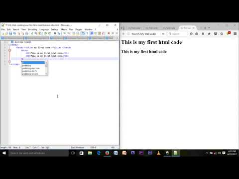 2nd Second Html Tutorial 2017