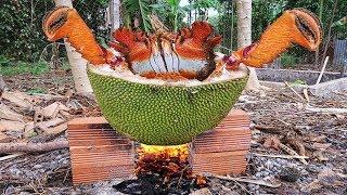 Cua Huỳnh Đế Khổng Lồ Nấu Trong Trái Mít Đậm Chất Sinh Tồn . Crab Cook Jackfruit